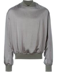 Jersey con cuello circular gris de Haider Ackermann