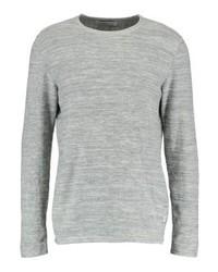 Jersey con cuello circular gris de Jack & Jones