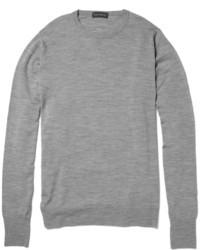 Jersey con cuello circular gris de John Smedley