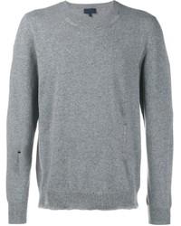 Jersey con cuello circular gris de Lanvin
