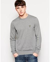 Jersey con cuello circular gris de Lyle & Scott