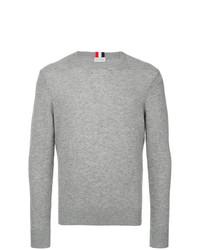Jersey con cuello circular gris de Moncler