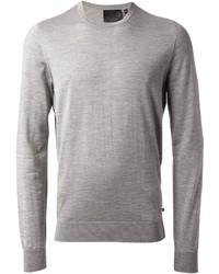 Jersey con cuello circular gris de Philipp Plein