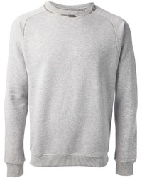 Jersey con cuello circular gris de Saint Laurent