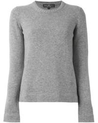 Jersey con cuello circular gris de Salvatore Ferragamo