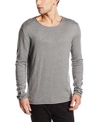Jersey con cuello circular gris de Selected