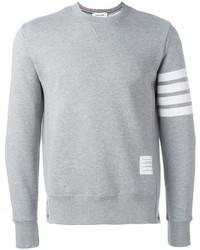 Jersey con cuello circular gris de Thom Browne