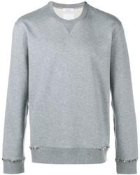 Jersey con cuello circular gris de Valentino