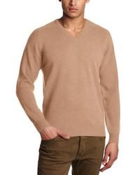 Jersey con cuello circular marrón claro de Al Andalus