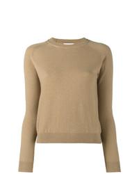 Jersey con cuello circular marrón claro de Alexandra Golovanoff