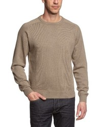 Jersey con cuello circular marrón claro de Casamoda