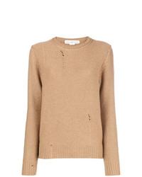 Jersey con cuello circular marrón claro de Golden Goose Deluxe Brand