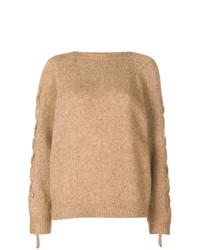 Jersey con cuello circular marrón claro de IRO