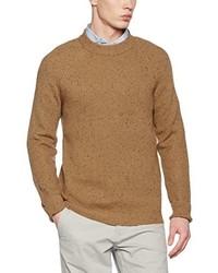 Jersey con cuello circular marrón claro de Jack & Jones