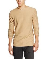 Jersey con cuello circular marrón claro de JACK & JONES PREMIUM