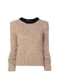 Jersey con cuello circular marrón claro de Marni