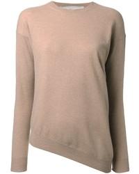 Jersey con cuello circular marrón claro de Stella McCartney