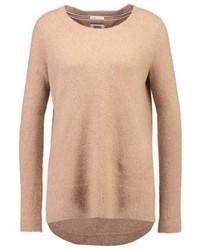 Jersey con cuello circular marrón claro de Tommy Hilfiger