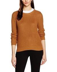Jersey con cuello circular marrón claro de Vero Moda