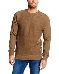 Jersey con cuello circular marrón claro de Volcom