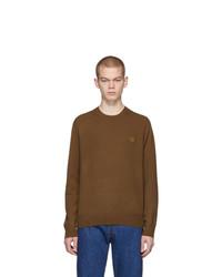 Jersey con cuello circular marrón de Acne Studios