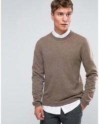 Jersey con cuello circular marrón de Asos