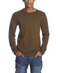 Jersey con cuello circular marrón de Bench