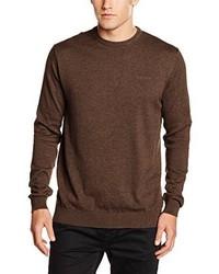 Jersey con cuello circular marrón de Esprit