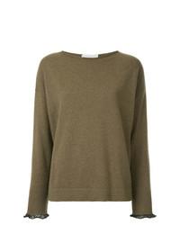 Jersey con cuello circular marrón de Fabiana Filippi