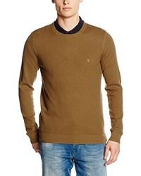 Jersey con cuello circular marrón de Farah