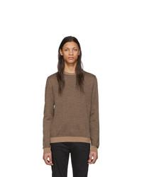 Jersey con cuello circular marrón de Fendi