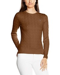 Jersey con cuello circular marrón de GANT