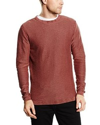 Jersey con cuello circular marrón de Jack & Jones