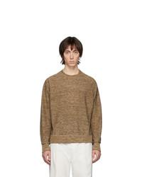 Jersey con cuello circular marrón de Lemaire