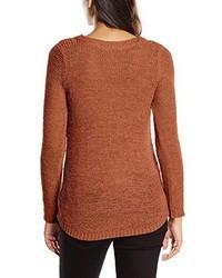 Jersey con cuello circular marrón de Only