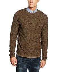 Jersey con cuello circular marrón de Selected Homme