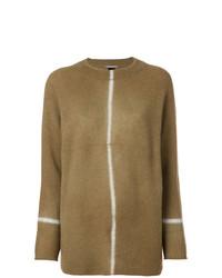 Jersey con cuello circular marrón de Suzusan