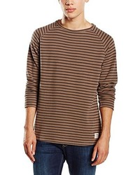 Jersey con cuello circular marrón de Tom Tailor Denim