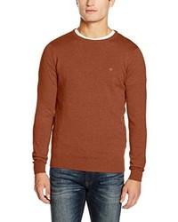 Jersey con cuello circular marrón de Tom Tailor