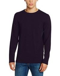 Jersey con cuello circular morado oscuro de Jack & Jones