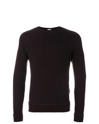Jersey con cuello circular morado oscuro de Massimo Alba