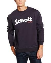 Jersey con cuello circular morado oscuro de Schott NYC