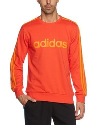 Jersey con cuello circular naranja de adidas
