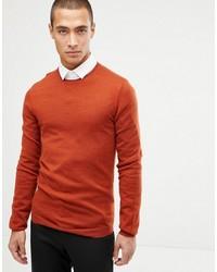 Jersey con cuello circular naranja de ASOS DESIGN
