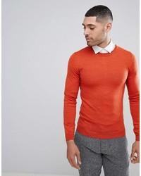 Jersey con cuello circular naranja de Asos