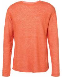 Jersey con cuello circular naranja de Barena