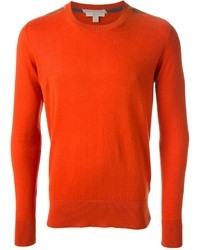 Jersey con cuello circular naranja de Burberry