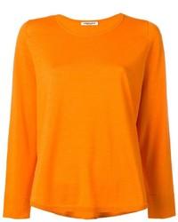 Jersey con cuello circular naranja de Lamberto Losani