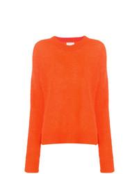 Jersey con cuello circular naranja de Laneus