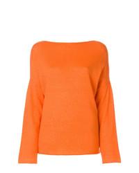 Jersey con cuello circular naranja de Liska
